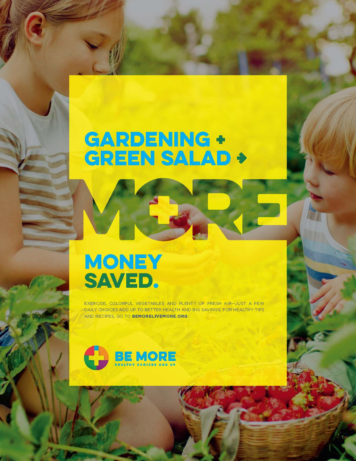 Ad/Material Details: Be More: Gardening (Poster)